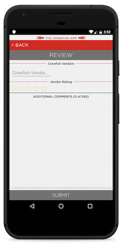 Review and Submit Vendor Pages on portrait Android Pixel
